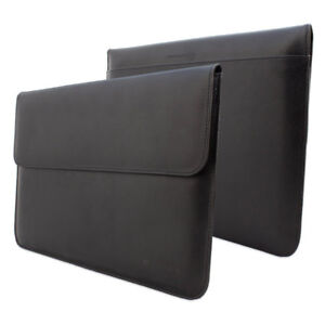 Snugg 12-Inch Laptop Sleeve - Black Leather Protective Case