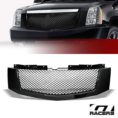 For 2007-2014 Cadillac Escalade Black Luxury Mesh Front Bumper Grill Grille Abs