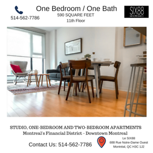 1Bdr (3 1/2) Condo Style  Downtown Financial District Montreal