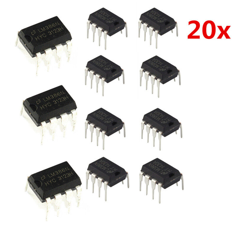 20x LM386N-1 DIP-8 LM386 Low Voltage Audio Power Amplifier IC