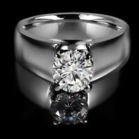 Bright diamond engagement ring1.35CT Bague de fiançailles 14k or