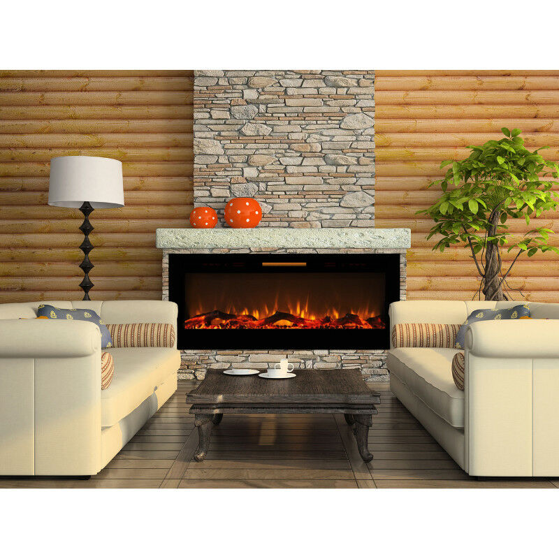 Wall Mount Electric Fireplace Or Recessed Within Designs: FIREPLACE MAKEOVER By Stone Veneer $ 499.. And Up