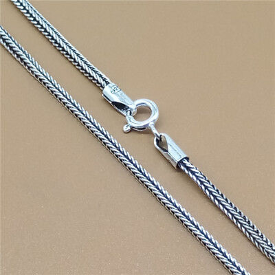 925 Sterling Silver Wheat Chain Necklace Bali Neclace 1.5mm 16 18 20 22 24 26