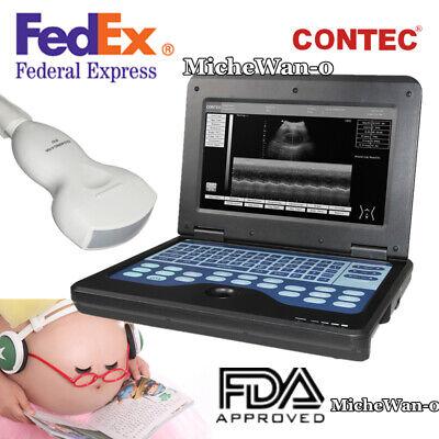 Ultrasound Scanner Laptop Digital Abdominal Diagnostic Machine 3.5 Convex Usa