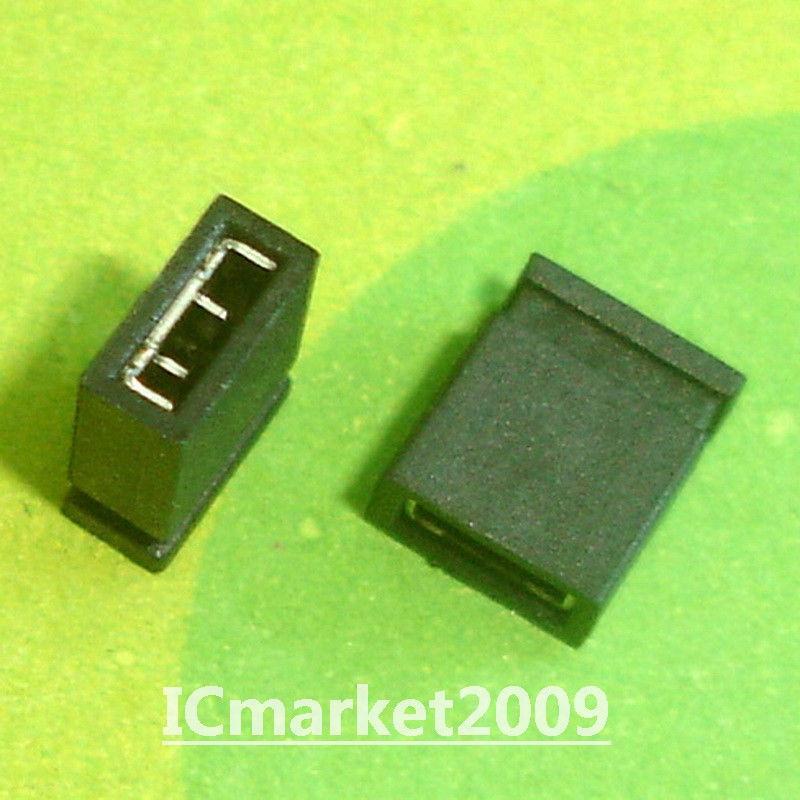 1000 PCS 2.54mm Standard Circuit Board Jumper Cap Shunts Short Circuit Cap