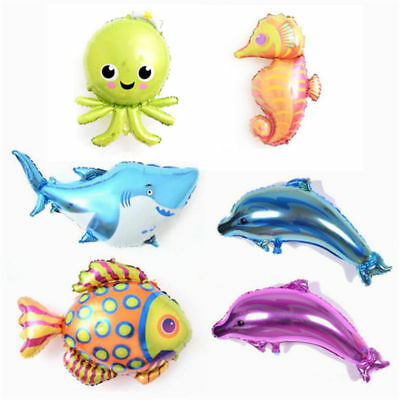 Fish Helium Balloons (Sea Fish Octopus Dolphins Balloons Aluminum Foil Helium Birthday Party Decor)