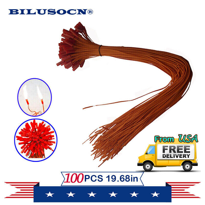 Ship From US 100pcs/lot 19.68in Fireworks Wire For Fireworks Firing System