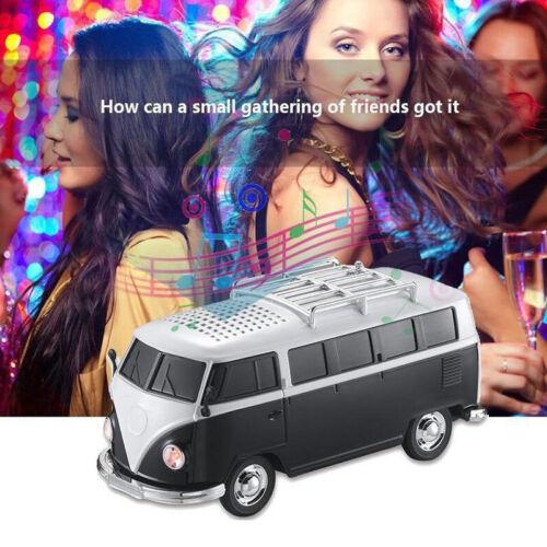 Bus Model Speaker Portable Mini Speakers FM Stereo Audio Sub