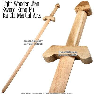 "35"" Martial Arts Wooden Kung Fu Tai Chi Practice Sword Jian New"