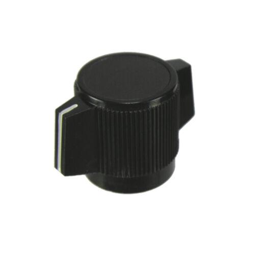 2X Black Pointer Knob With White Indicator