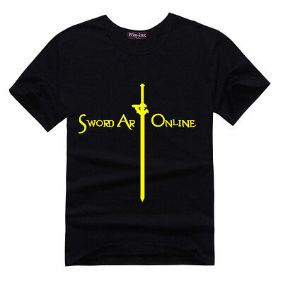 Anime Sword Art Online Letter T-shirts Cotton Short Sleeve Tee Cosplay Costume (Costumes Letter T)
