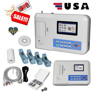 Us Contec Ecg300g Digital 3-channel 12-lead Electrocardiograph Ecg Machine Pc Sw