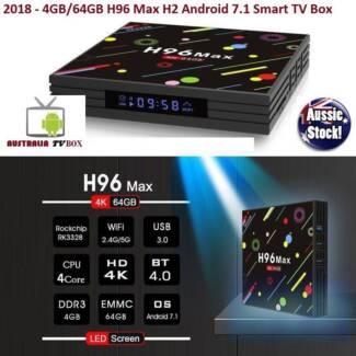 2018 4GB/64GB H96 Max H2 Android 7.1 Smart TV Box 5G Wifi 4K HD Doveton Casey Area Preview