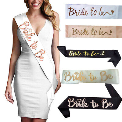 Bride To Be Banner (Letters Bride To Be Team Bride Satin Banner Hen Night Wedding Party Sash)