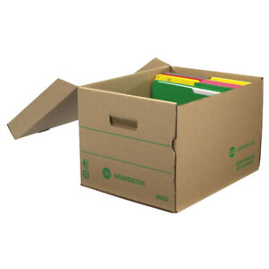 Grand & Toy Storage Boxes, Kraft, Letter- and Legal-Size, 25/CT