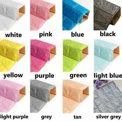 10pcs PE Foam 3D Embossed Brick Wallpaper TV Background Wall Stickers 70X38cm