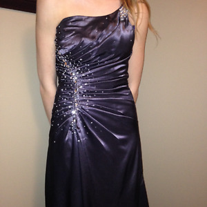 Glamourgirl Charcoal Prom Dress - Size 6