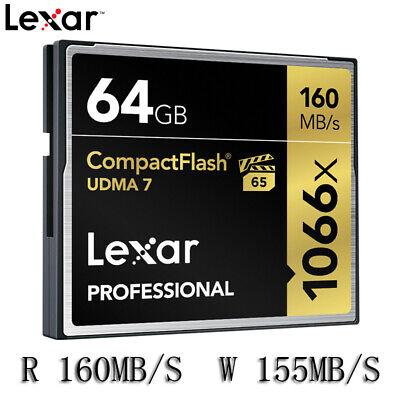 Lexar Professional 64GB Compact Flash 160MB/s CF Memory Card 1066x UDMA 7 (Lexar Professional Udma Flash Memory)