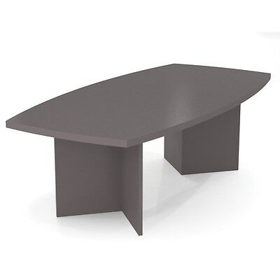 Bestar Boat Shaped Conference Table With 1 34 Melamine Top In Slate