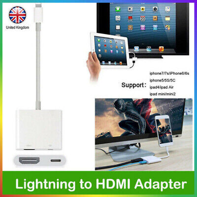 For IOS To HDMI Cable Digital AV TV Adapter For iPhone 6 78 11 Plus X Ipad 1080P