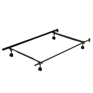 Adjustable queen, full/double or single size metal bed frame