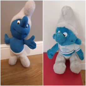 Soft smurf toys by chad valley vintage x2 rare smurfs £5 for both Fro