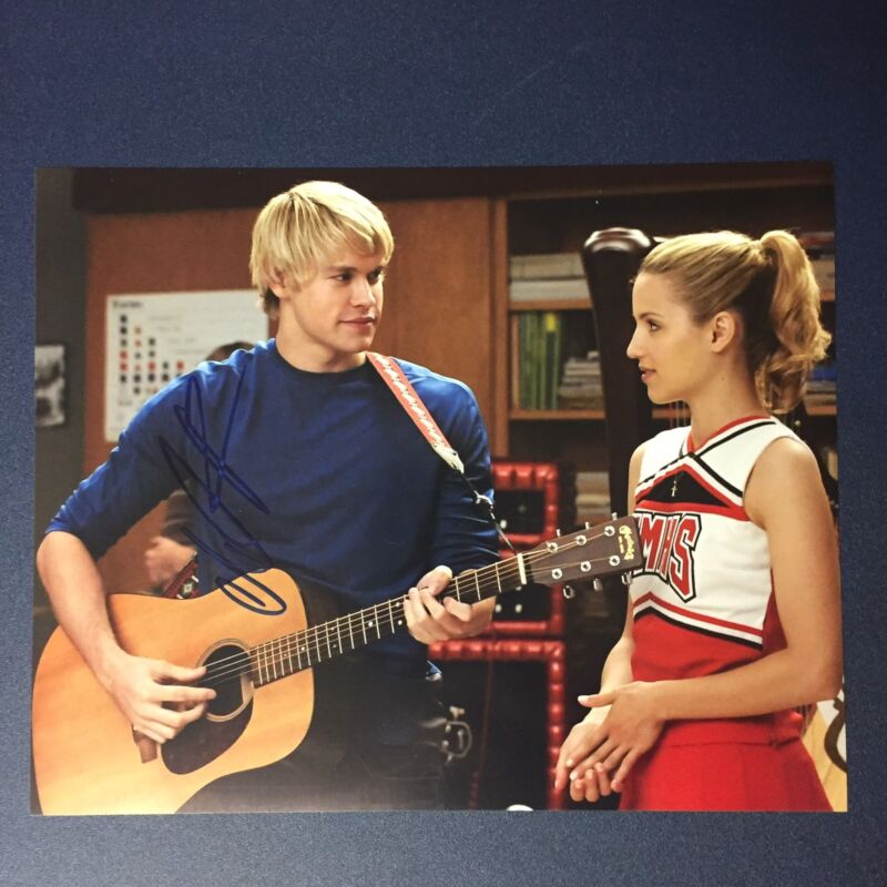 CHORD OVERSTREET SIGNED 8x10 PHOTO AUTOGRAPHED RARE GLEE ACTOR SINGER SEXY COA