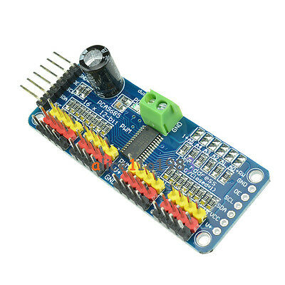 2pcs Pca9685 16 Channel 12-bit Pwm Servo Motor Driver I2c Module Arduino Robot