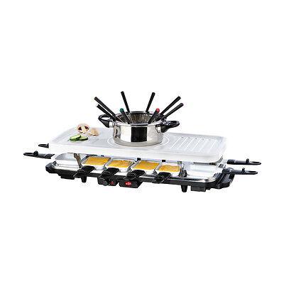 GOURMETmaxx Raclette- & Fondue-Set Keramik XXL für 12 Personen 38-teilig