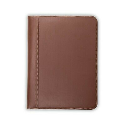 Samsill Lot Of 3 Contrast Stitch Leather Padfolio 8.5x11 Writing Pad Included