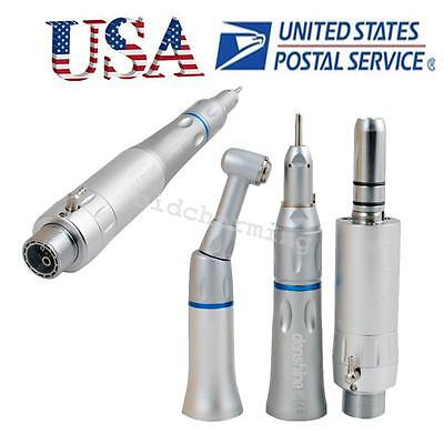 Dental Slow Low Speed Contrastraight Handpiece 2hole Air Motor E-type Push Usa
