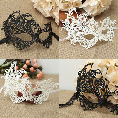 Halloween Faces Black And White (Charming Women Black White Lace Eye Face Mask Masquerade Party Halloween)