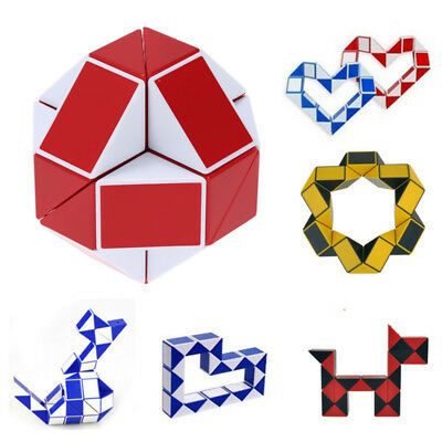 Children Magic Snake Shape 3D Magic Cube Twist Puzzle Game Logic Brain Toy Gift