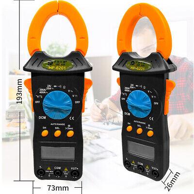 Digital Clamp Multimeter Ac Dc Voltage Current Resistance Temperature Dmm Meter
