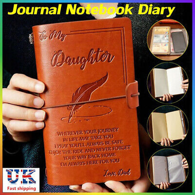 To My Child Love Dad Vintage photographs Leather Journal notepad Father Day Gift