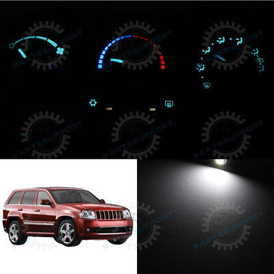 Climate Control Knobs - White Climate Control AC Heater LED Light Bulb for 05-07 Grand Cherokee 3 Knob