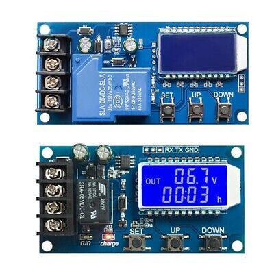 10A 30A 6-60V Lithium Battery Charge Control Module Protection Board LCD Display