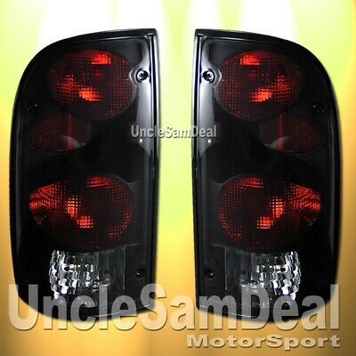 FOR 95-00 TOYOTA TACOMA SMOKE LENS BLACK ALTEZZA TAIL LIGHTS PAIR DIRECT FIT