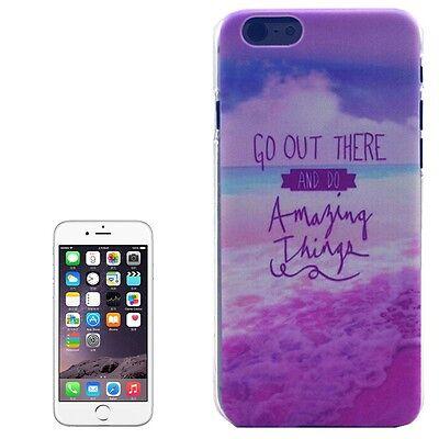 Hardcase Cover Hülle Schutzhülle für iPhone 6 & 6S bunt Lila Violett mit Spruch Lila Hard Case Cover