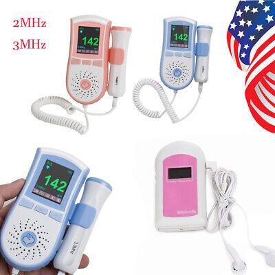 Usa Fast Fetal Doppler Prenatal Baby Heart Waveform Monitor Probe Alarm Function