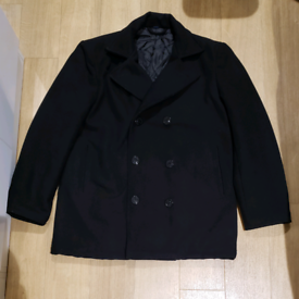 New 55% Wool Warm Men Peacoat Jacket XL Still Available!!! Chest 41'