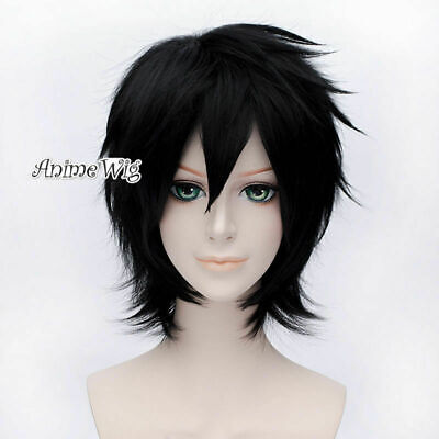 Anime For Big Hero 6 Hiro Hamada Black Short 30CM Layered Basic Cosplay Wig+Cap