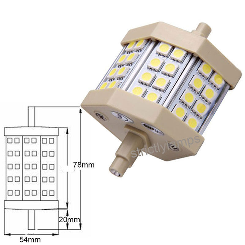 r7s j78 or j118 smd led flood light bulb replacement for halogen tube bulb ebay. Black Bedroom Furniture Sets. Home Design Ideas