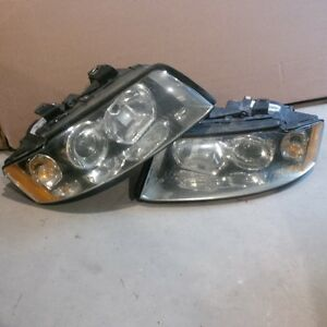 Audi A4 S4 B6 OEM Headlight Assemblies