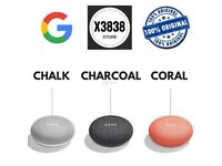 BRAND NEW GOOGLE HOME MINI- ALL 3 COLOURS AVAILABLE- GRAB A BARGAIN