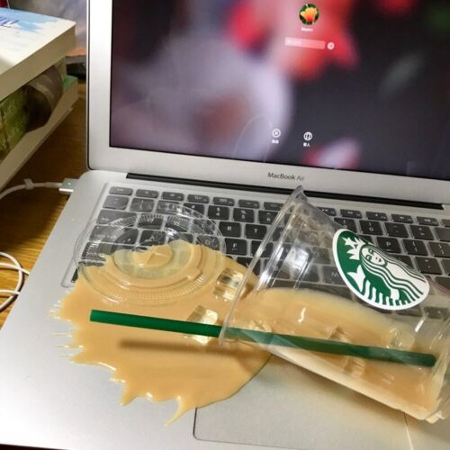 Fake Spilled Starbucks Iced Coffee Spill 12Oz Cup Staging Drink Handcrafted Art