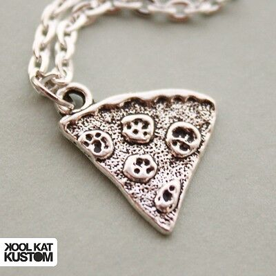 e silbern Fast Food Hipster necklace (Pizza Halsketten)