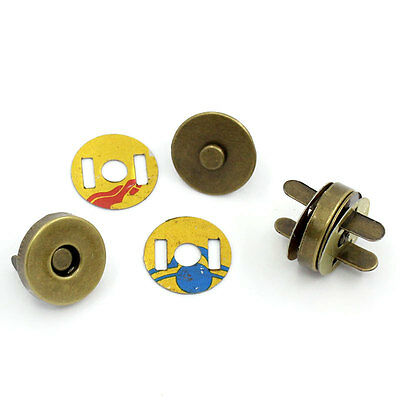 5 sets Antique bronze Magnetic Snap Clasps For Purses or Bags closure, fastening
