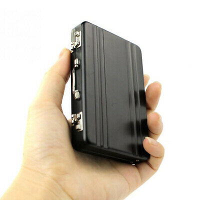 Mini Aluminum Suitcase Briefcase Business Credit Bank Holder Black Card Box