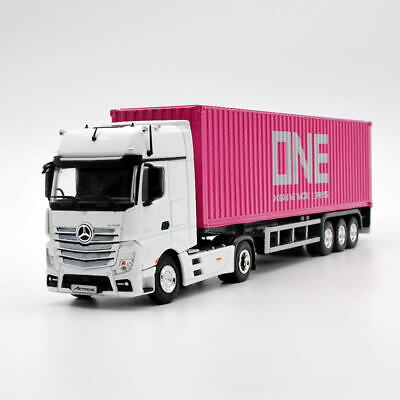 Metal 1:50 Mercedes-Benz Actros Trailer Truck Diecast Model Car & ONE Container
